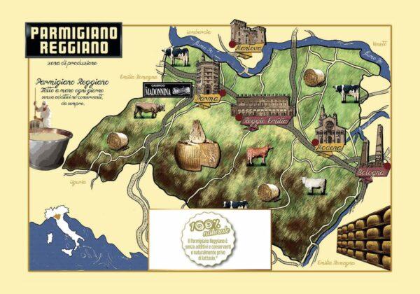 Caseificio_La_Madonnina Territorio di produzione del Parmigiano Reggiano